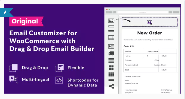 Email Customizer for WooCommerce plugin.