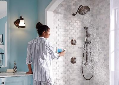 A picture containing wall, indoor, person, bathroom Description automatically generated