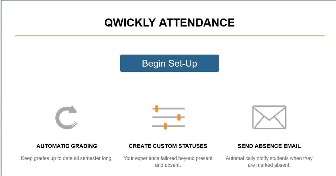 Qwickly Attendance Begin Setup