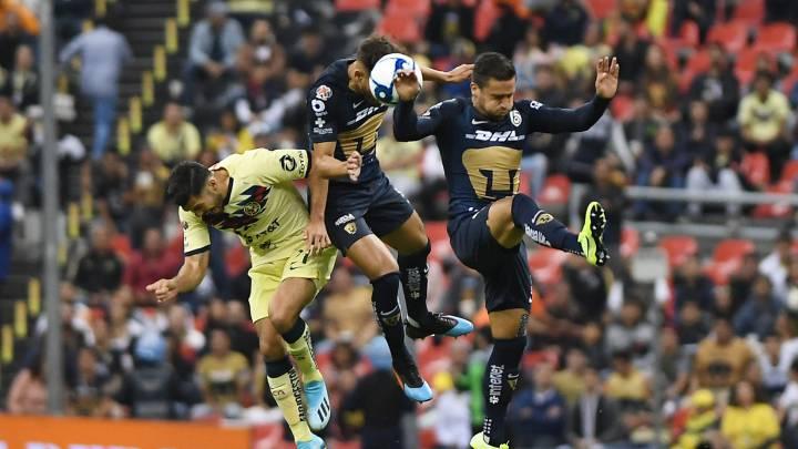 Pumas vs América j9 liga mx 2020