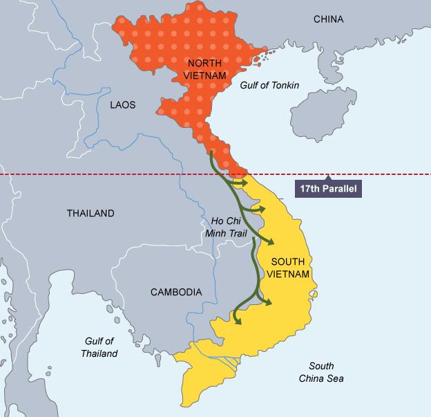 North And South Vietnam Map Vietnam My Lai Massacre