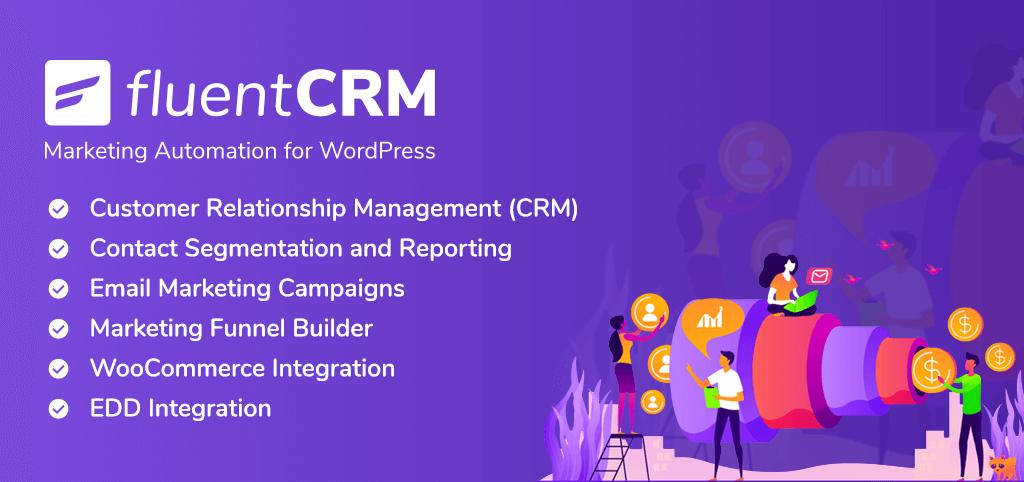 fluentcrm, wordpress email marketing plugins, fluentcrm banner
