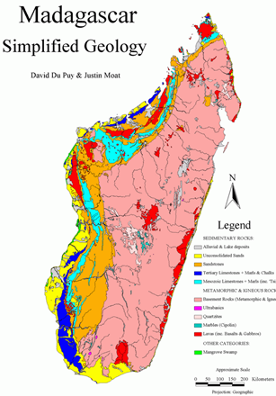 Madagascar Natural Resources Map