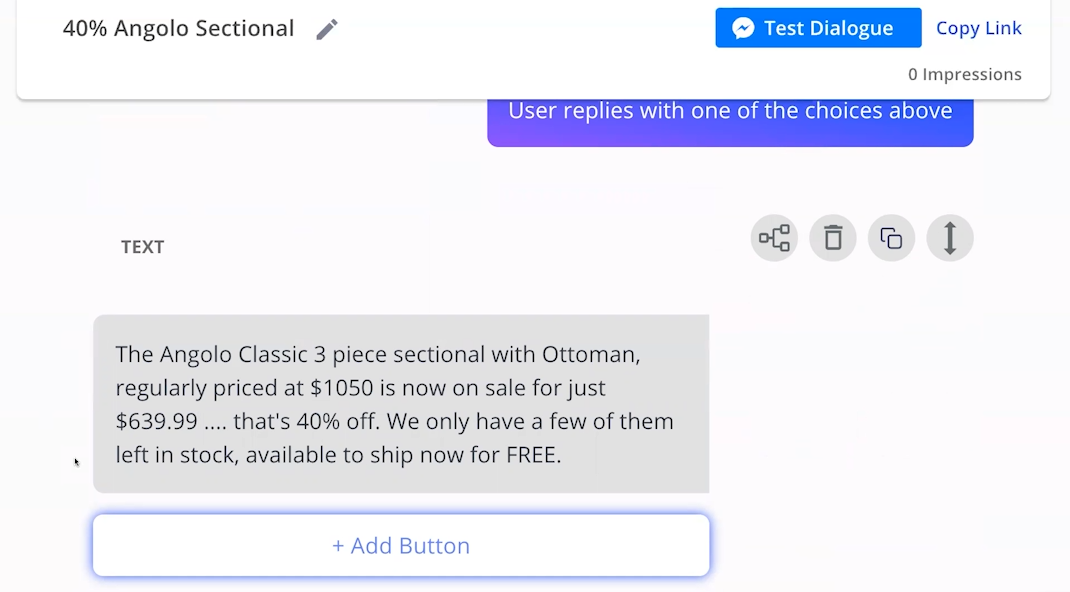 build a sales chatbot for promotions