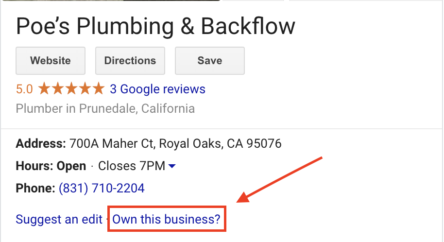 unverified google my business listing