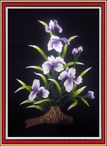 Tranh thêu hoa lan và ý nghĩa đặc biệt trong phong thủy 11