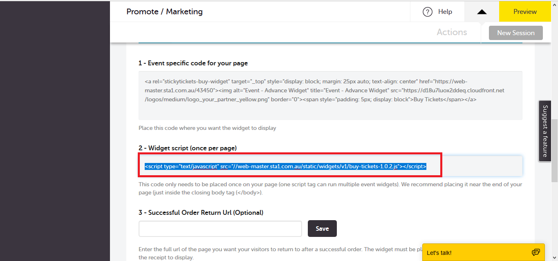 Adding Advanced Widget Script to your WordPress site