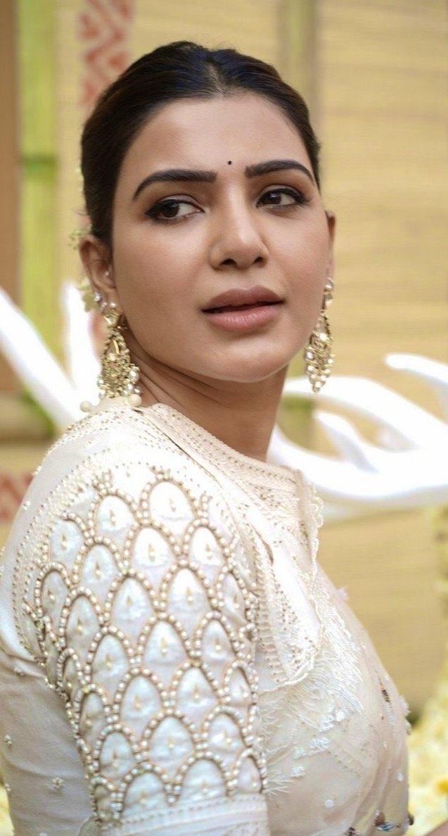 Samantha white transparent designer saree Actress Trend