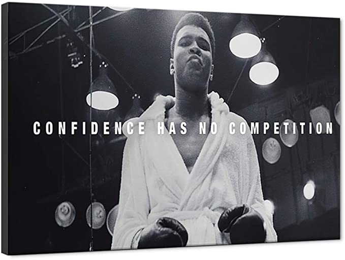Yatsen Bridge Store Motivational Canvas Wall Art features the boxing legend Muhammad Ali for athletes that need some motivation to practice and work harder.
