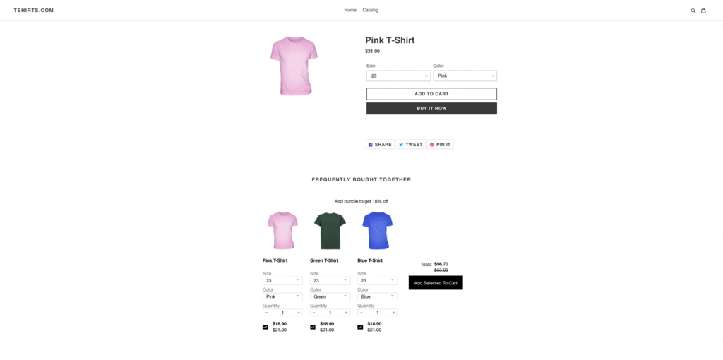 create Shopify product bundles