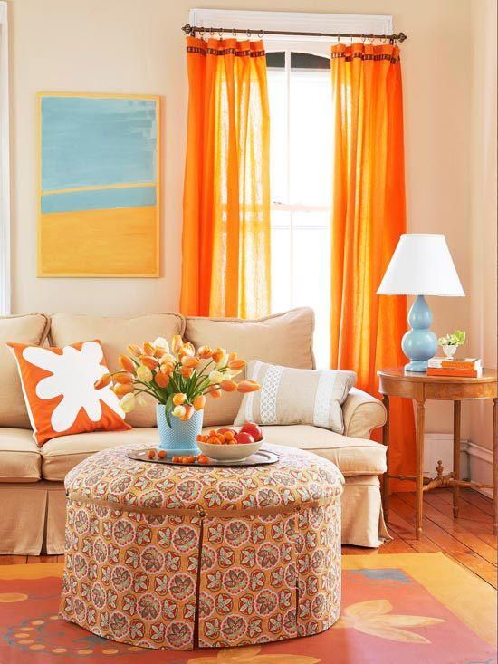Image result for colorful curtains for living room