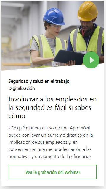 Webinar involucrar a los trabajadores en la seguridad laboral