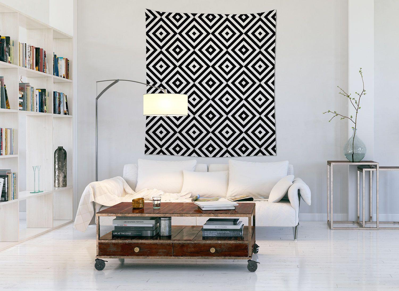 Penerapan Material Kain pada Interior Minimalis (Hiasan Dinding) - Sumber: www.pinterest.com
