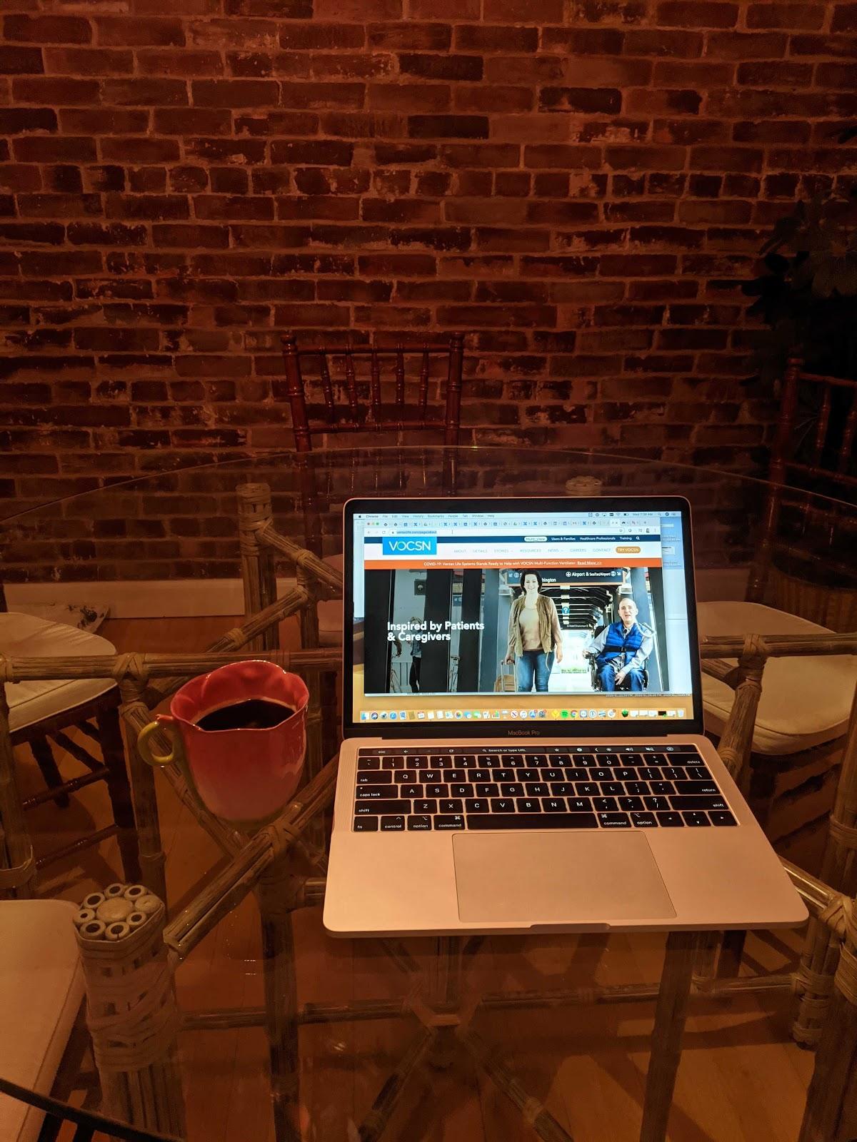 Home office featuring Tulip mug