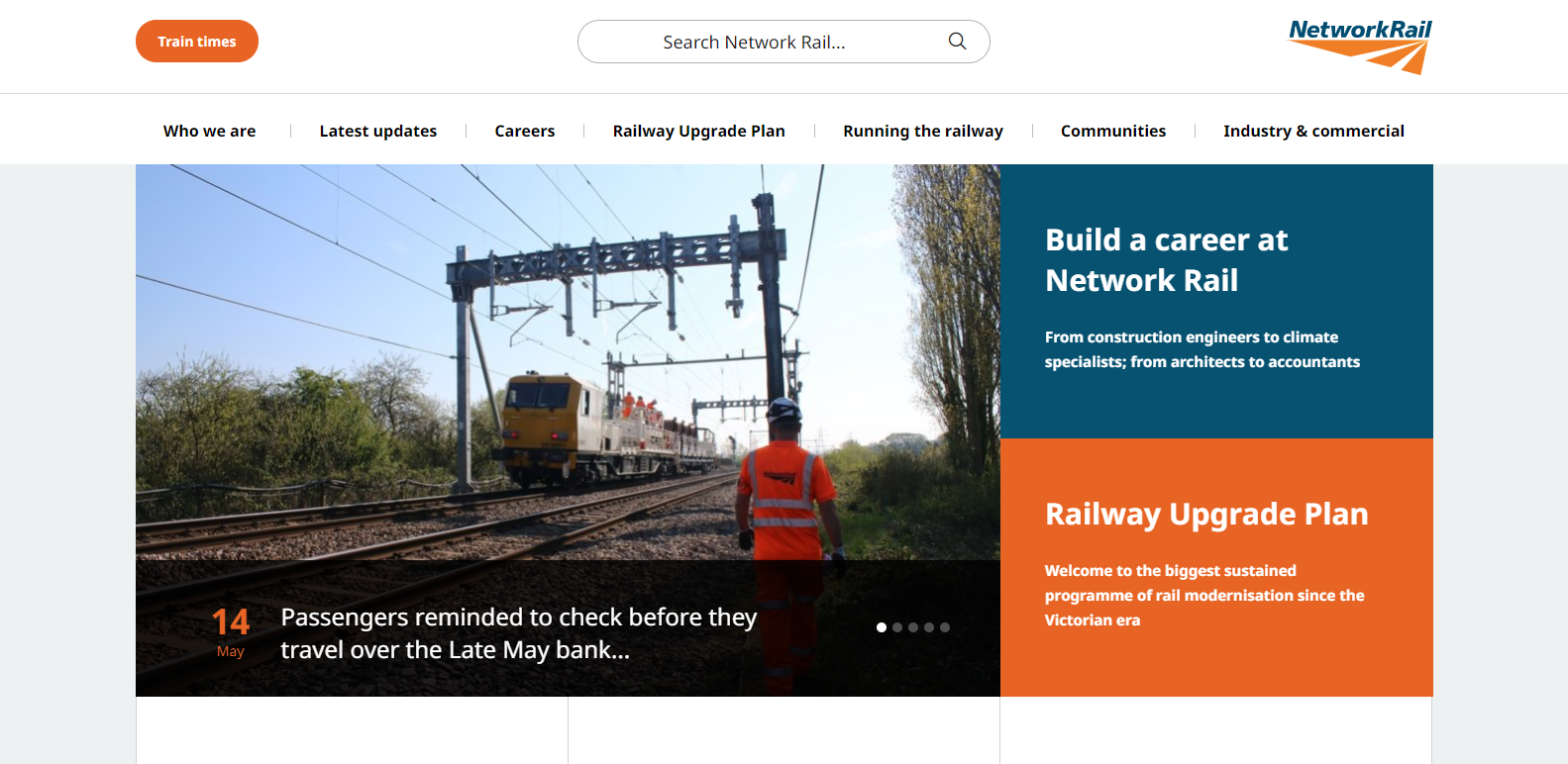image of networkrail wordpress websites