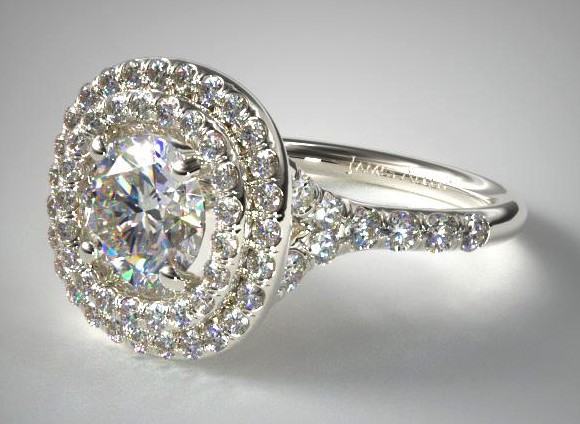Diamond Split Shank Double Halo from James Allen