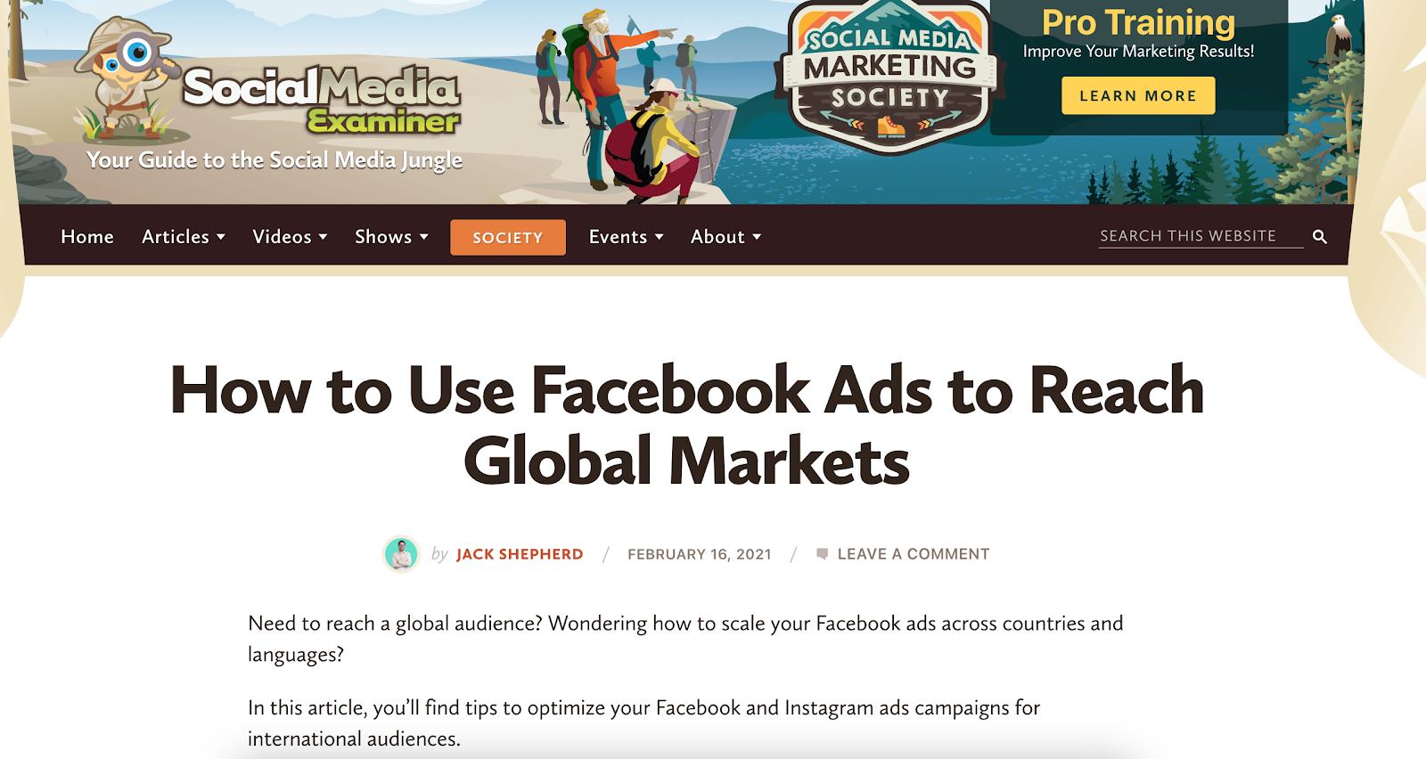 social media agency blog