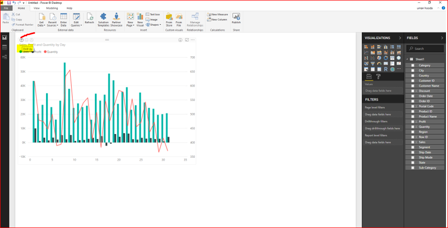 Dual Axis Chart in Microsoft Power BI - Step By Step 39