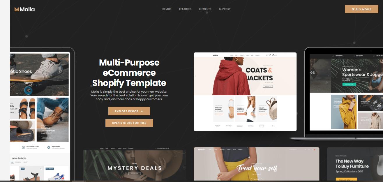 Molla - premium Shopify theme