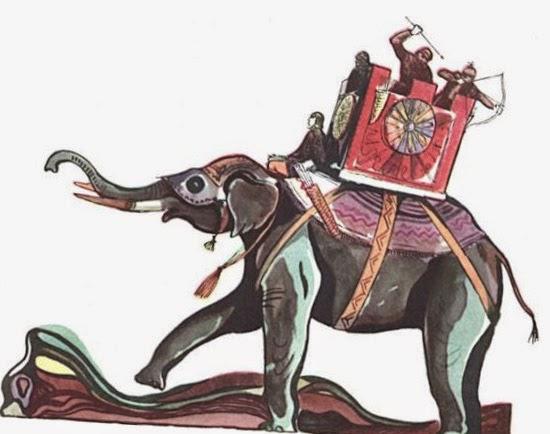 Боевые слоны в армии Персии