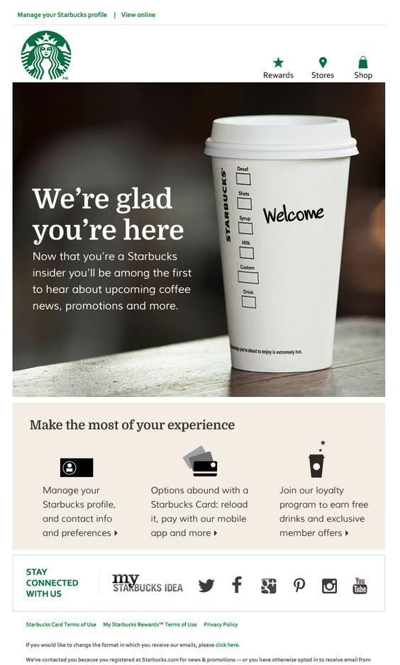 Starbucks page with product description.