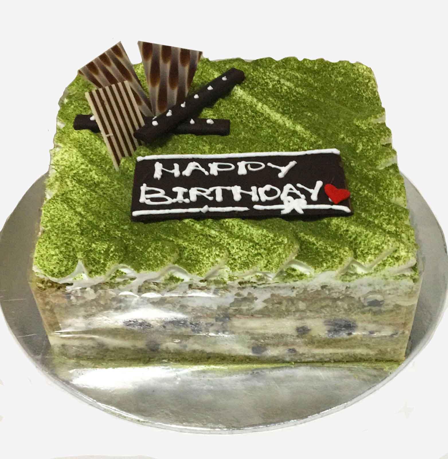 Bánh kem trà xanh – hương vị rất mới lạ cho ngày sinh nhật của bạn