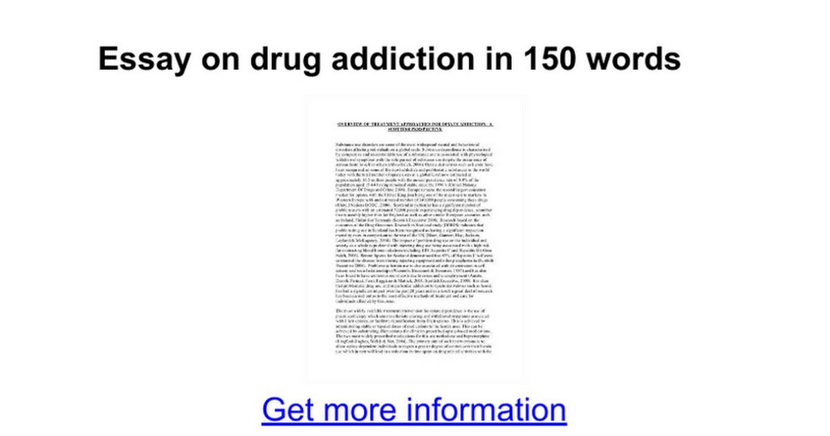 Application writing essay on drug abuse?