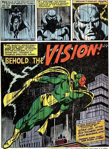 The Vision | Comic Panels