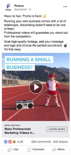 Promo - emotional Facebook ad example 2