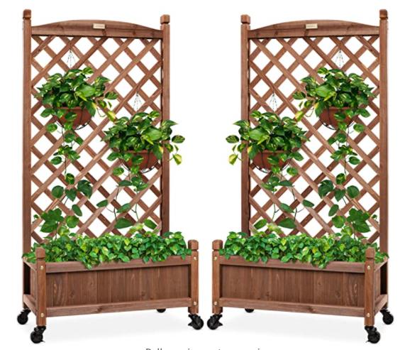 wood planter box amazon