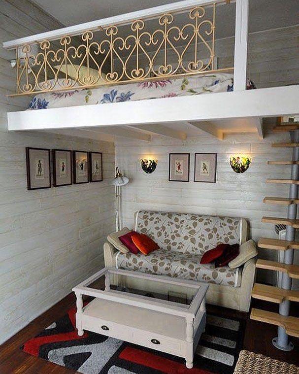Vintage Loft Bed with Railing Ideas
