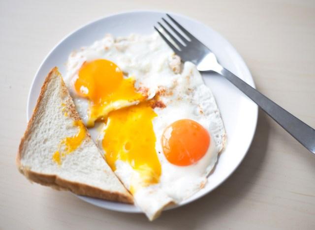 Fried egg sunny side up egg yolk