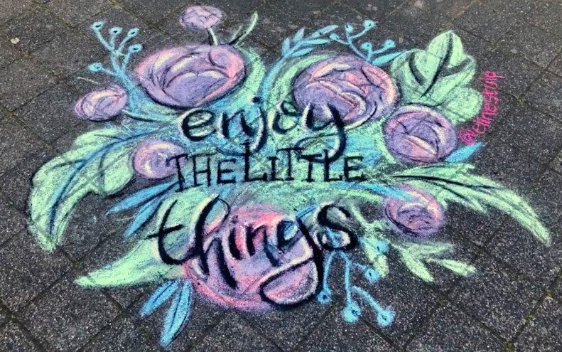 """""""enjoy the little things"""" with flowers"""