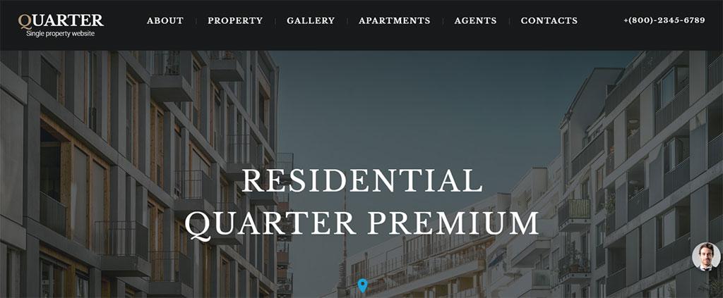 design de site para empresa imobiliária quarter