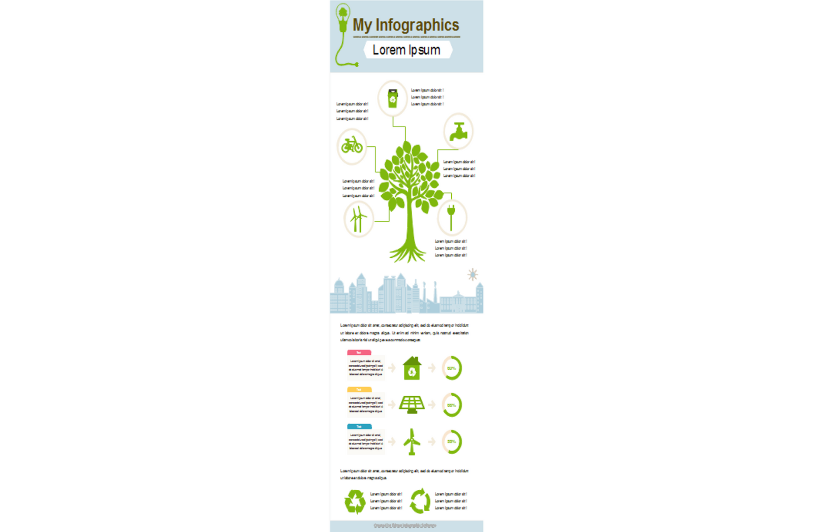 edrawsoft infographics about trees and recycling
