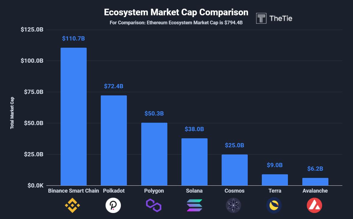 Ecosystem market cap comparison
