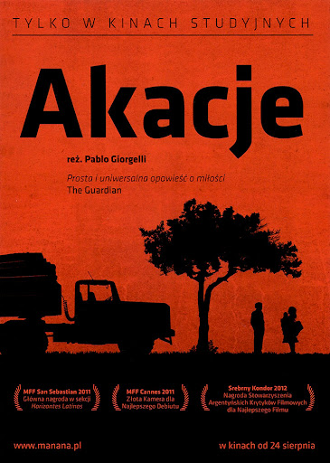 Przód ulotki filmu 'Akacje'