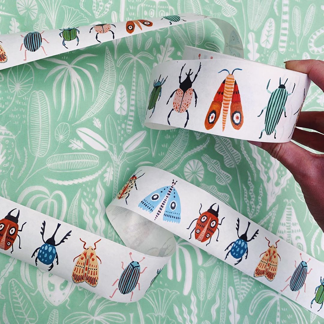 Tape with insect illustrations