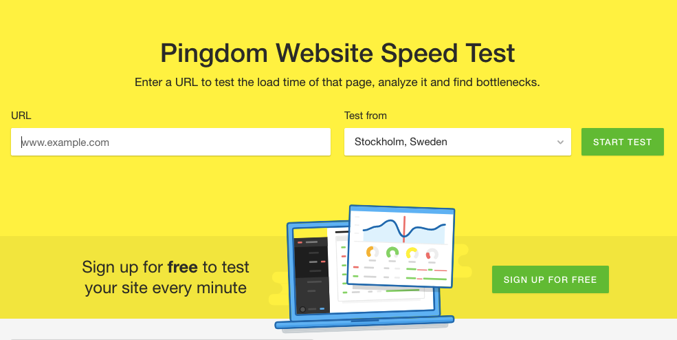 page speed test site