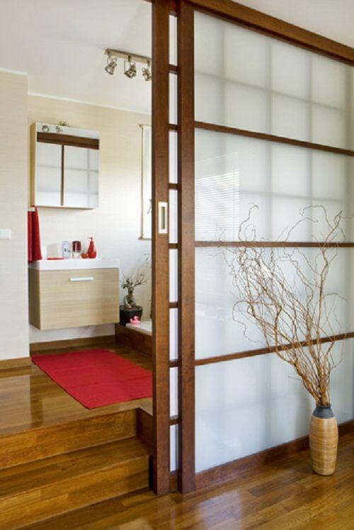 o design das portas de correr japonesas