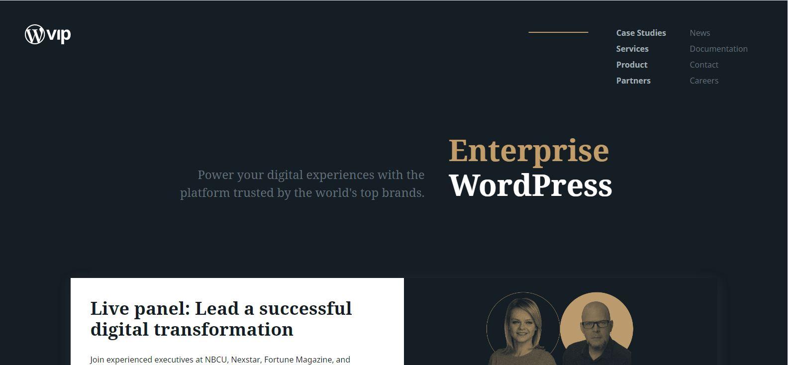 WPvip Enterprise Managed WordPress Hosting