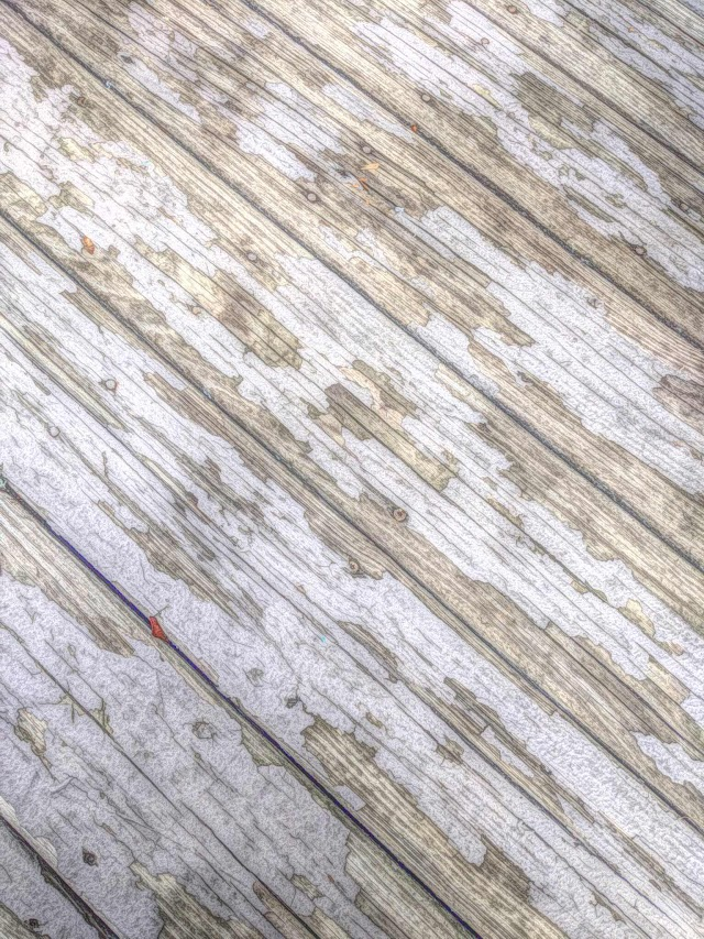 Wooden deck with old paint