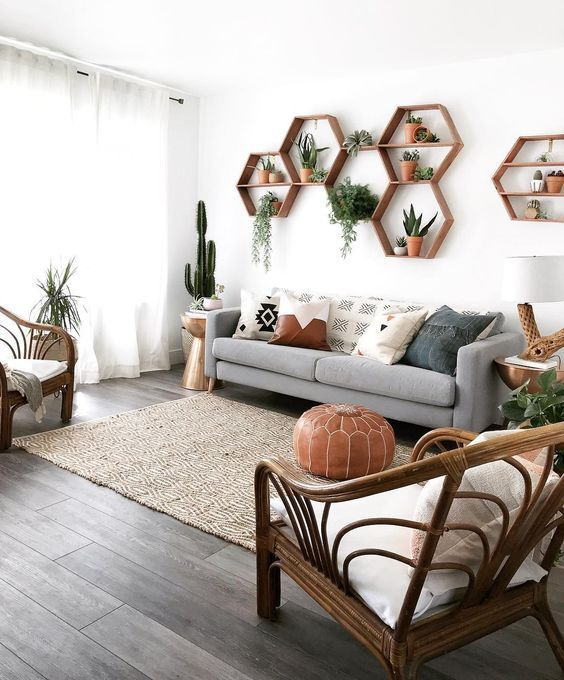 Feng Shui decor in a living room