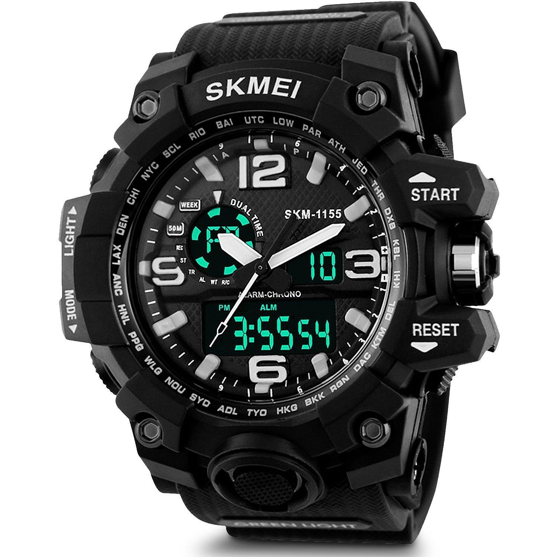 SKMEI Analog-Digital Black Dial Men's Watch