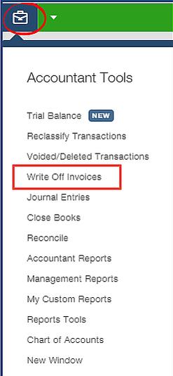 Write off invoices