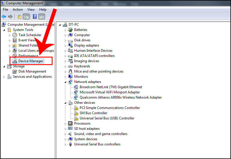 Bước 1: Mở Device Manager.
