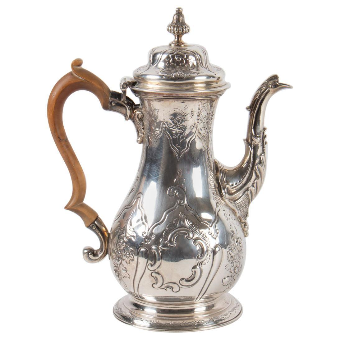 coveted antique silver teapot