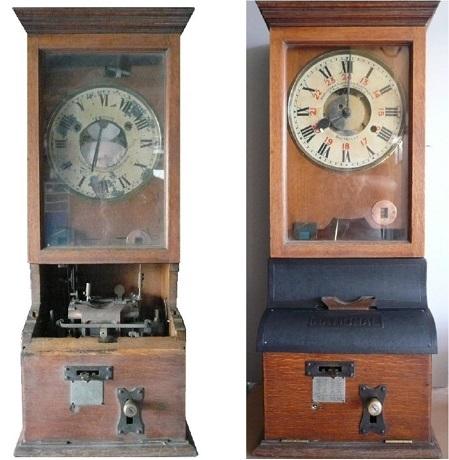 Reloj de fichaje del personal del antiguo