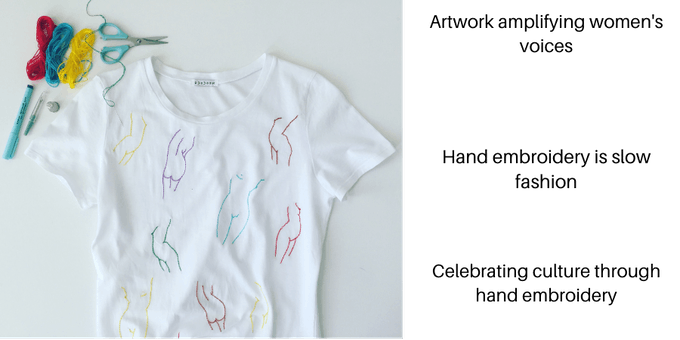 Hand embroidered Individuali-Tee