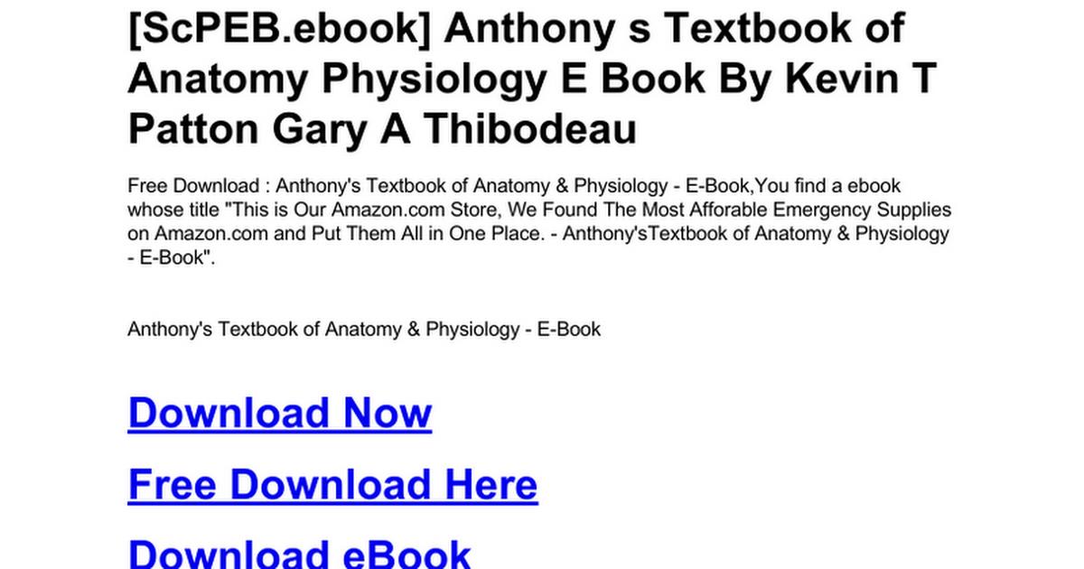 Fantastic Thibodeau Anatomy And Physiology Images - Anatomy And ...
